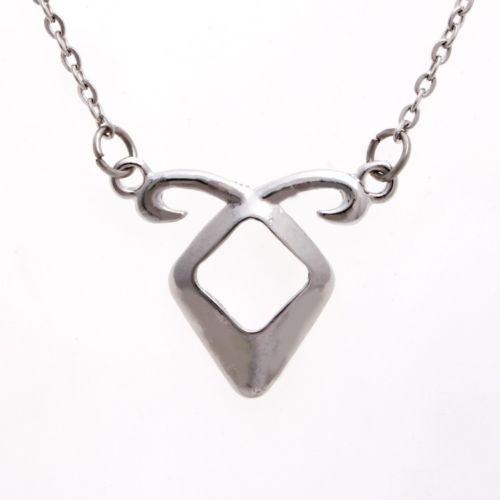 Die Sterblichen Instrumente Stadt der Knochen Angelic Power Rune Anhänger Halskette Silber Metall Kette Anhänger Halskette Versilbert Schmuck Zubehör