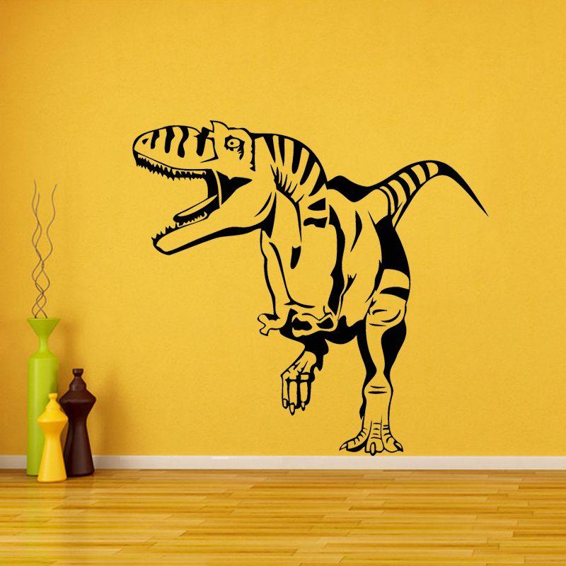 Open Mouth T Rex Dinosaurs Wall Art Sticker Wall Decal Living Room ...