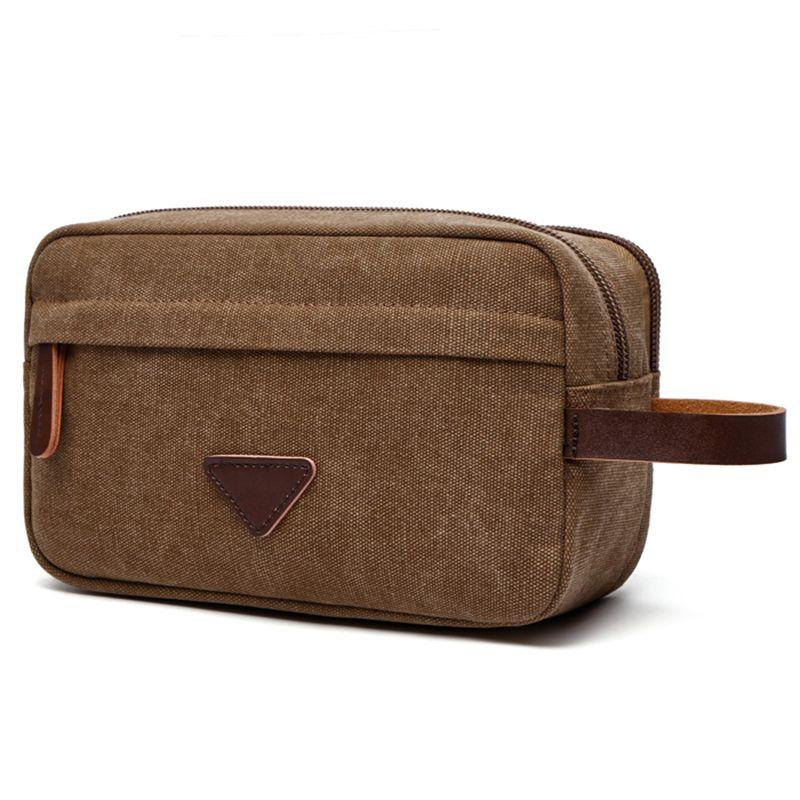 2019 Portable Man Travel Wash Bag Canvas Cosmetic Bags Men S Bath Make Up Toiletry  Bag Zipper Women Makeup Organizer Necessaries Case Purse Pouch From ... e08a10a565bc0