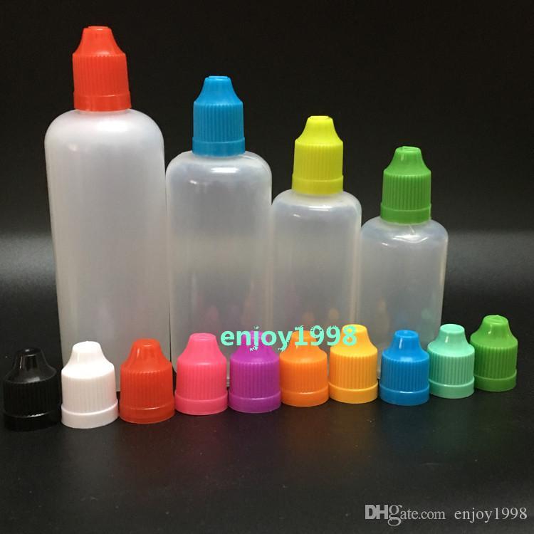Оптовая PE игла бутылка 5мл 10мл 15мл 20мл 30мл 50мл 60мл 100мл 120мл Пластиковых бутылки капельницы восковых Крышки LDPE E Жидкость Empty Bottle