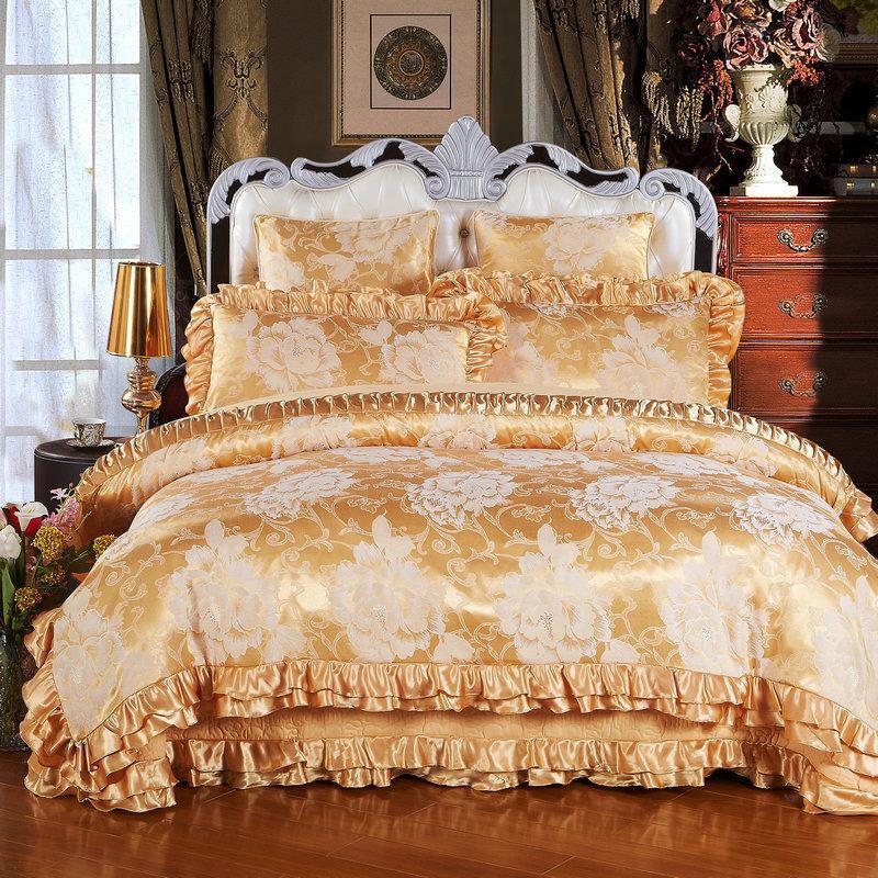 Luxurious European Style Jacquard Silk 100 Cotton Luxury