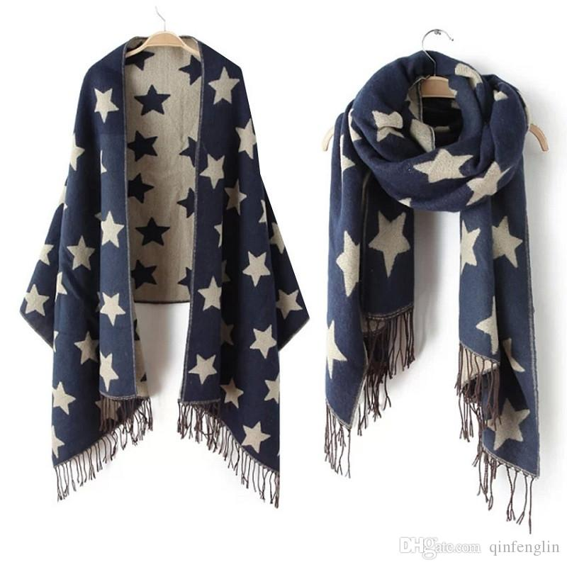 Woman Winter Scarf Brand Christmas Plaid Scarf Warm Soft Winter ...