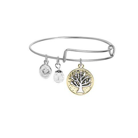 Tree Anchor Bracelets Love Heart Cross Dog Elephant Never Give Up Expandable Wire Bangle with Pendant Starfish Eye Men Jewelry