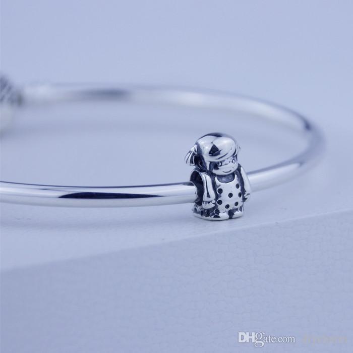 Gevşek boncuk Kadınlar için Otantik 925 Gümüş Boncuk Kız gümüş charm moda DIY takı Pandora Stil Bilezikler toptan uyar