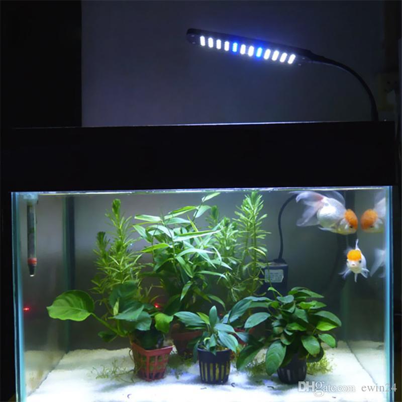 Aquarium tactile 3 modes de lumière réservoir flexible avec 48 LED blanche lumière bleue avec kit d'alimentation