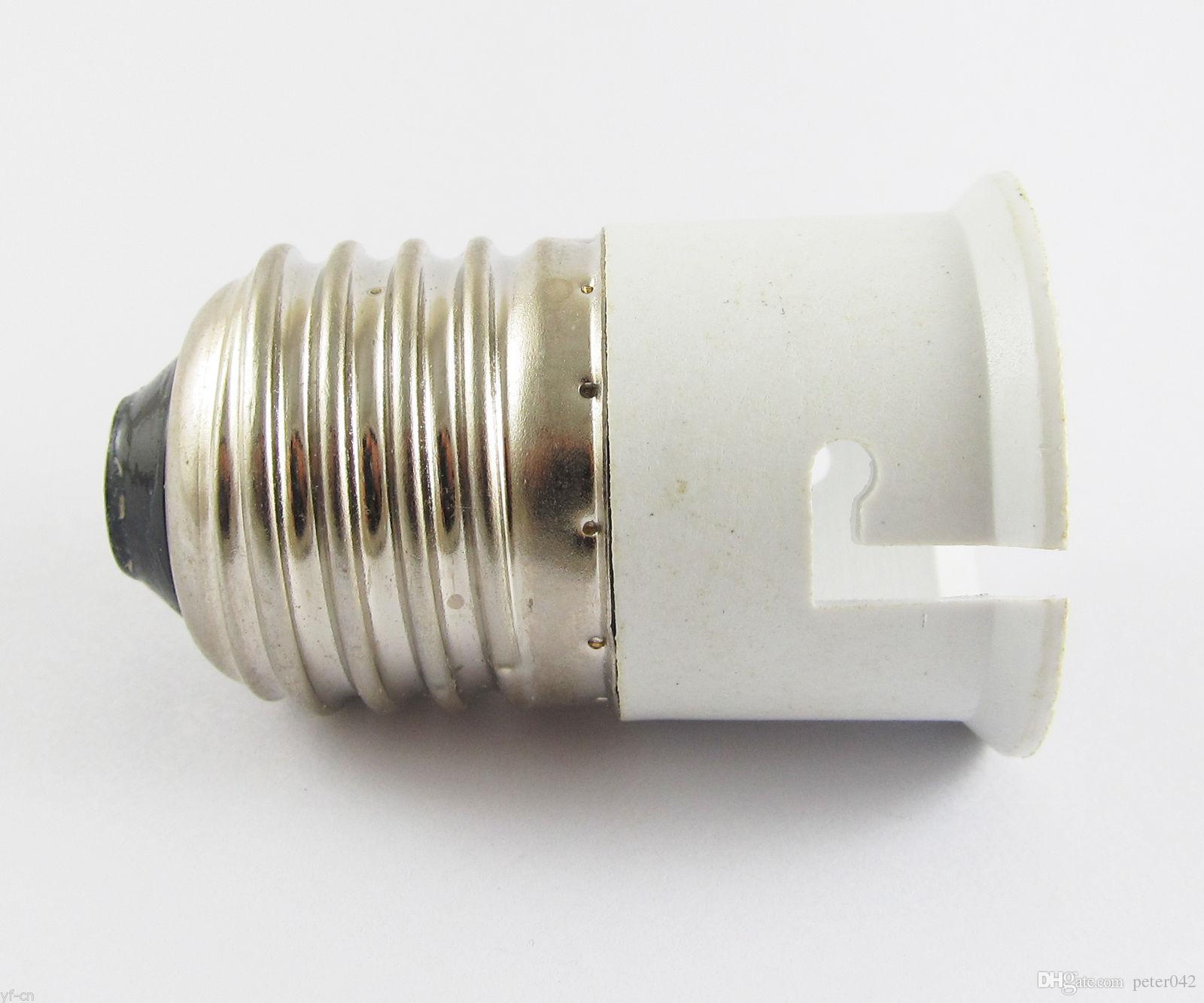 E27 Male to B22 Female Socket Base LED Halogen CFL Light Bulb Lamp Adapter