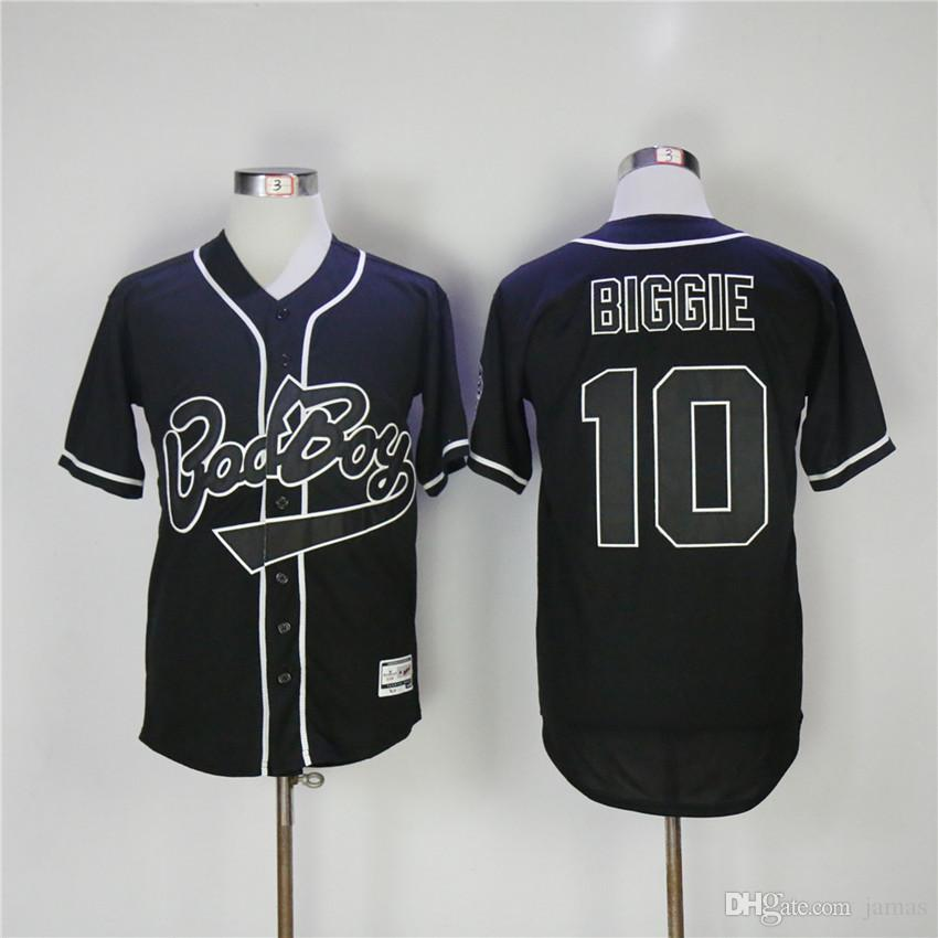 2019 10 Bad Boy Biggie Baseball Jersey Color White Black From Jamas ... 16ccdc083