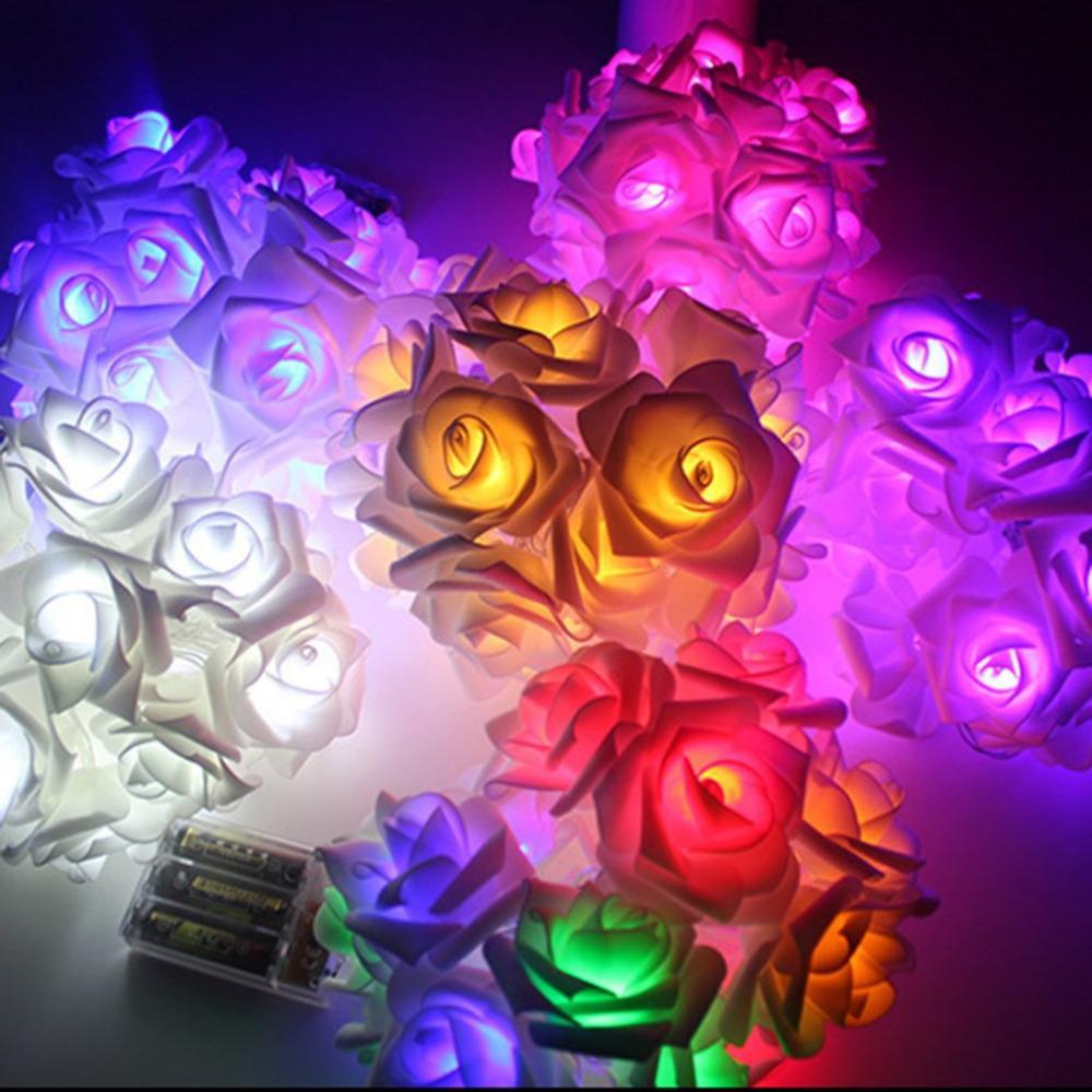 Wholesale 2m 20led Rose Flower Led String Lights Party Christmas