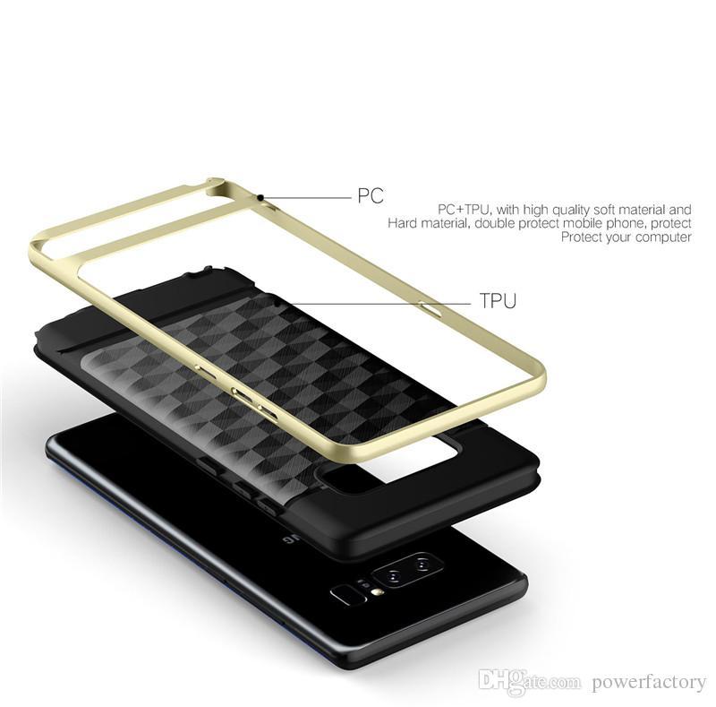 Custodia Hybrid Slim iPhone X 10 8 7 6s Plus Galaxy S8 Plus nota 8 Huawei P10 Lite