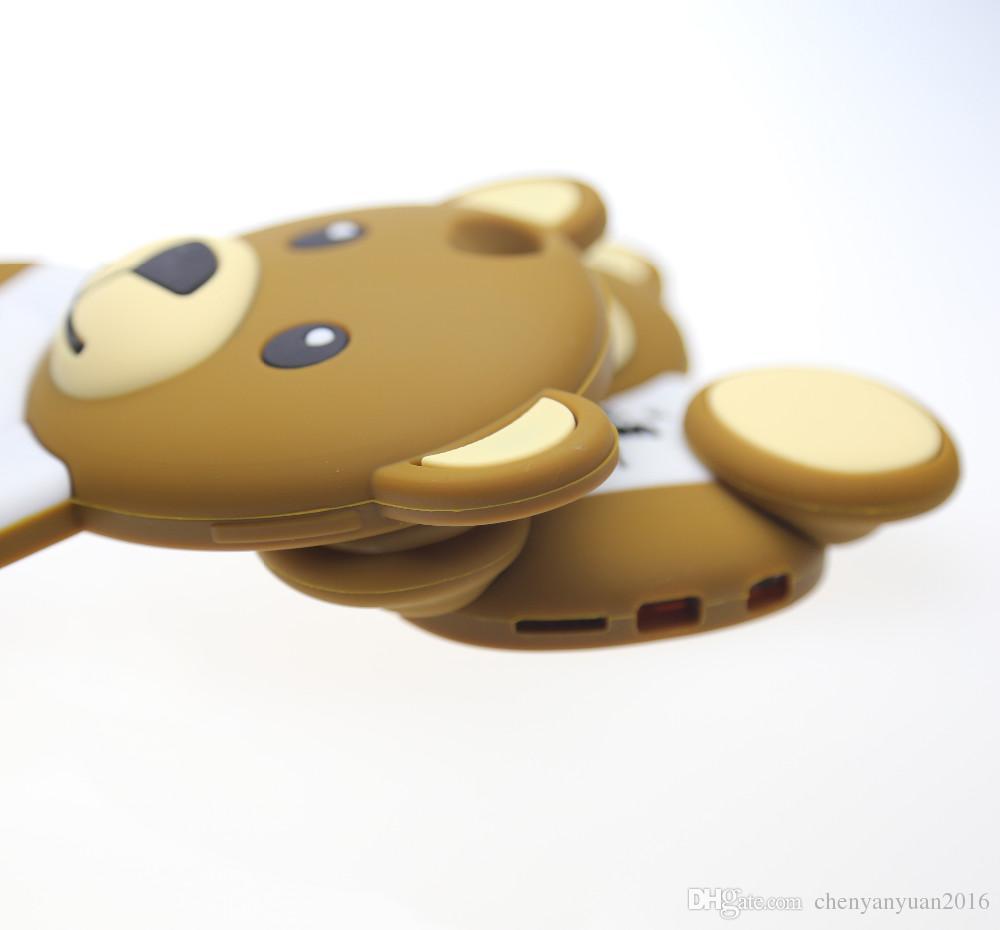 3D حيوانات الرسوم المتحركة لعبة لطيف دمية دب سيليكون حالة آيفون 4S / 5 5S / SE / 6 / 6plus S3 / S4 / S5 / S6 / J5 / Note3 / 4 / E5 / 7 / A5 / A7