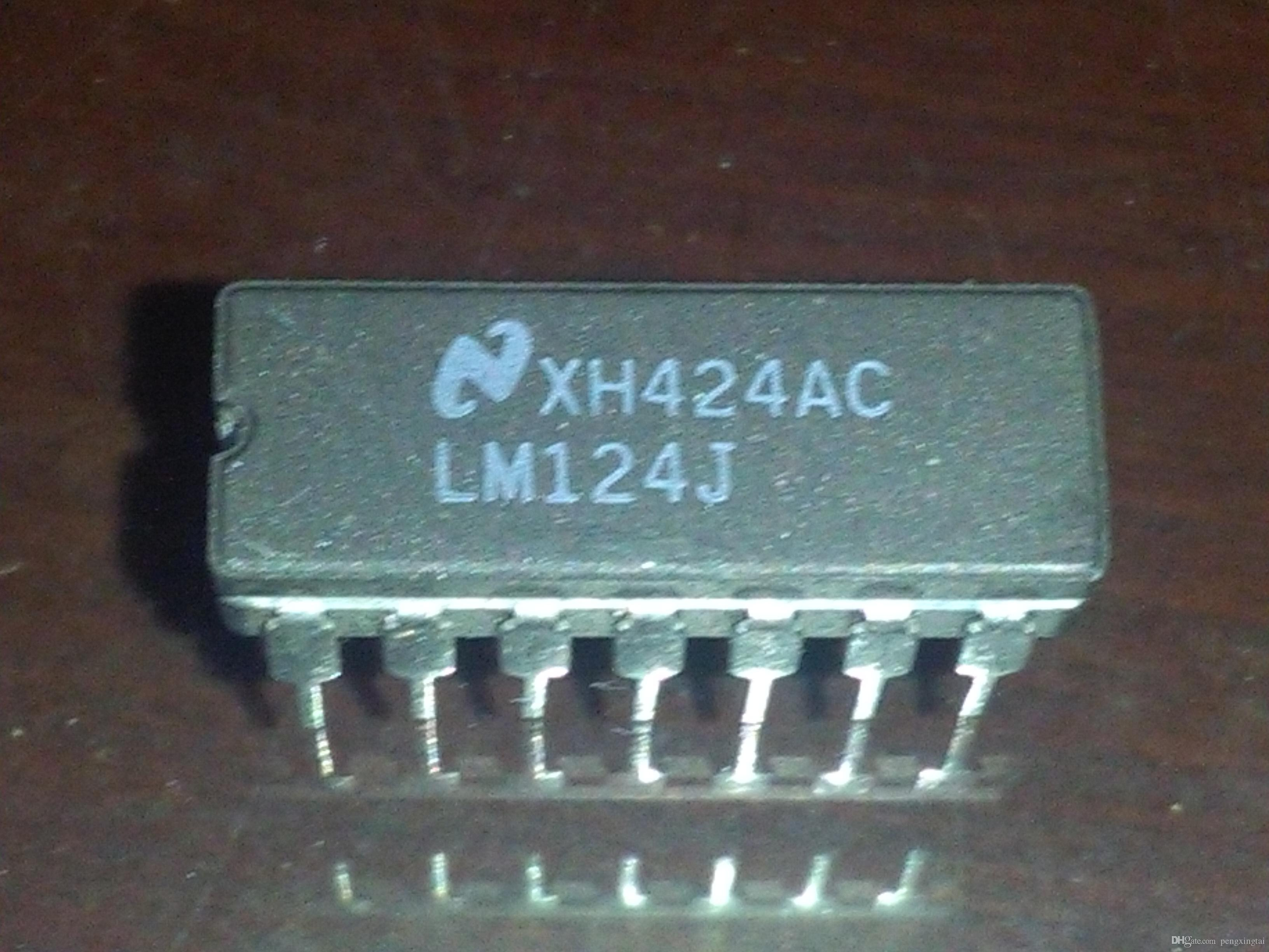 2018 Lm124j Ns Lm124 Cdip14 Quadruple Operational Amplifiers The Amplifier Electronics Ic Dual In Line 14 Pin Dip Ceramic Package Electronic Components From Pengxingtai