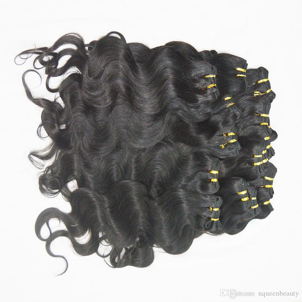 6 قطعة / الوحدة رخيصة المصنعة شعر الإنسان نوعية جيدة الهندي الجسم موجة حزم تسليم سريع