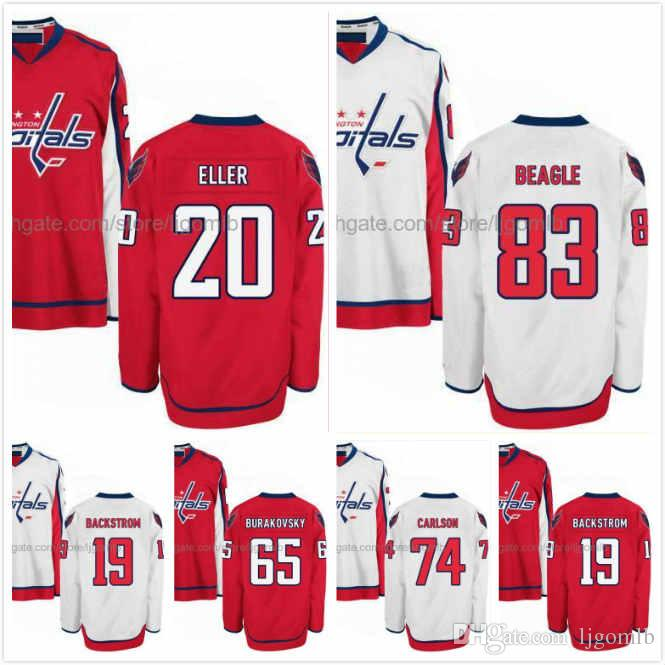 cheap for discount 8415d 21daf Lars Eller Jersey 20 Jay Beagle 83 John Carlson 74 Nicklas Backstrom 19  Andre Burakovsky 65 Hockey Jerseys Washington Capitals Stitched S-3X