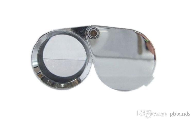 جديد البسيطة 30x30x21 ملليمتر العدسة المكبرة المكبرة الثلاثي مجوهرات العين زجاج الماس والمجوهرات مجهر الجيب loupes مجانية