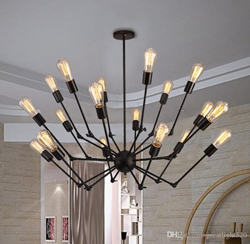 Adjustable Spyder Chandelier Vintage Edison Light Ceiling Pendant Retro Style Lighting Fixture 6 8 12 18 Heads 16 Modern Hanging