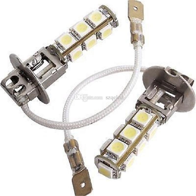 Heiße verkäufe-12V H3 13-5050-SMD Weiß LED Auto Vorne Kopf Nebelscheinwerfer Scheinwerferlampe