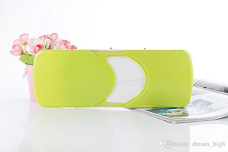 Bathroom Car Sun Visor Sun-Shading Board car Tissue Box Plastic Hanging Pumping Paper Napkin Holder with Clip Pink/Green/Orange
