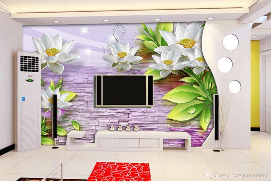настроить 3D HD водопад Луна 3d обои фрески диван спальня фото росписи современные 3D обои для гостиной фон