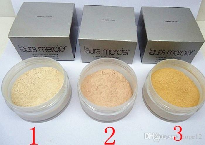 3 clolors Laura polvo de fijación Mercier suelto translúcido Min poro bloque del sol aclaran Corrector nutritivo Firm 29g de larga duración