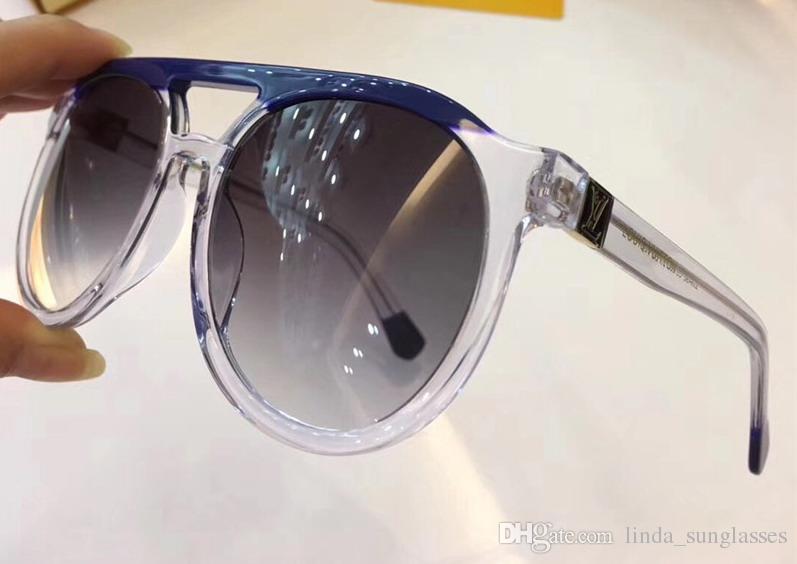 Women Stud Polit Sunglasses Gold Brown gray 0949 Gradient len oversized Sunglasses Sunglasses New with Box