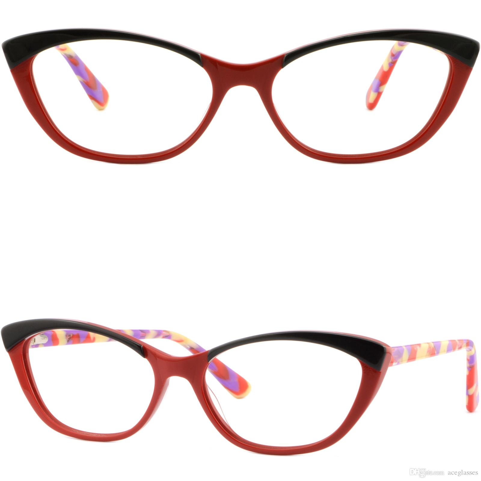 630ef3d48e Light Acetate Women Cat Eye Frame Stylish Prescription Glasses Spring  Hinges Red Cheap Frames Glasses Choosing Eyeglass Frames From Aceglasses