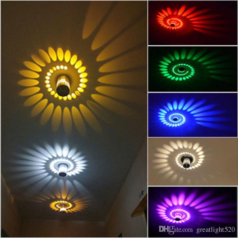 Großhandel 3w Spiral Led Wandleuchten Deckenleuchten Beleuchtung  Schlafzimmer Veranda Leuchte Home Decor # 17 Von Greatlight520, $14.32 Auf  De.Dhgate.