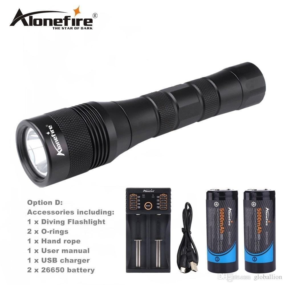 AloneFire DV47 Diving flashlight Torch XML L2 LED Waterproof Underwater Lamp Dive 150m Lamp lanterna led