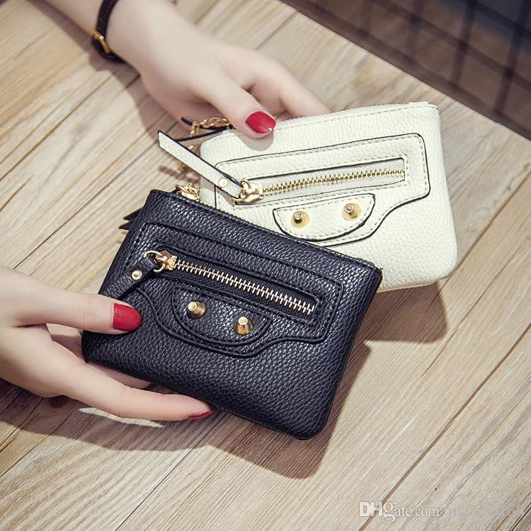 The new locomotive zipper small wallet woman purse wallet coin bag Mini PU