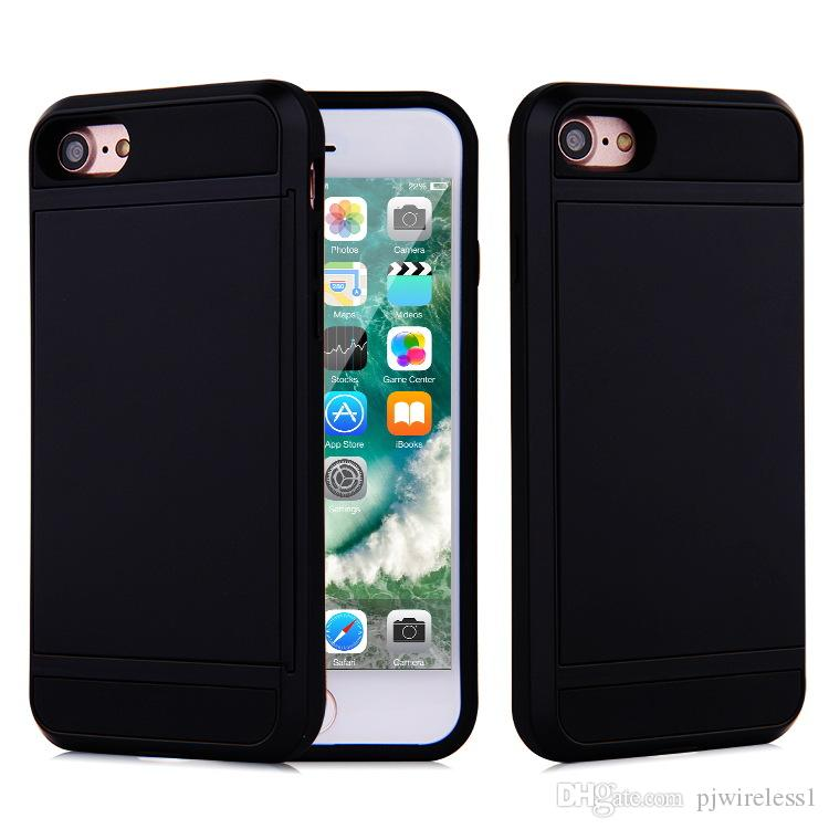 V-erus Case For iPhone 7 plus armor Hybrid cover Dual Layer Card Slide Case For iPhone 7 6S Samsung S7 with OPP Package