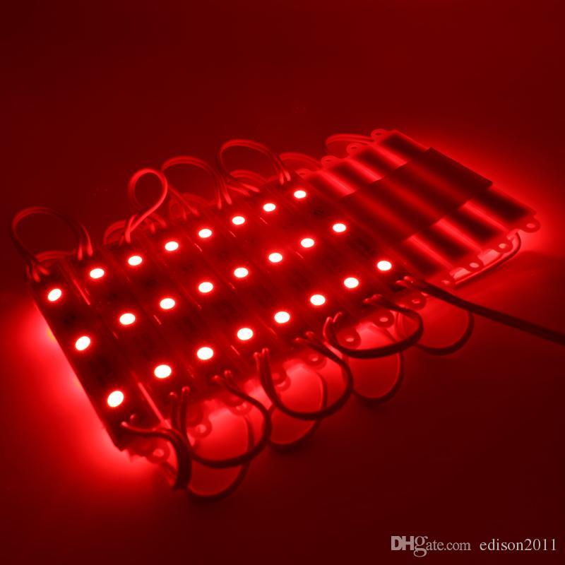 Edison2011 SMD 5050 LED وحدات للماء IP65 بقيادة وحدات DC 12V SMD 3 المصابيح الإضاءة الخلفية للرسائل قناة الدافئة بارد الأبيض الأحمر الأزرق