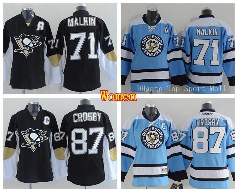 2019 New 71 Evgeni Malkin Women Jerseys Pittsburgh Penguins Hockey 87  Sidney Crosby Jersey Lady S Team Color Black Third Alternate Blue From  Fanatic sport 763b8ba033