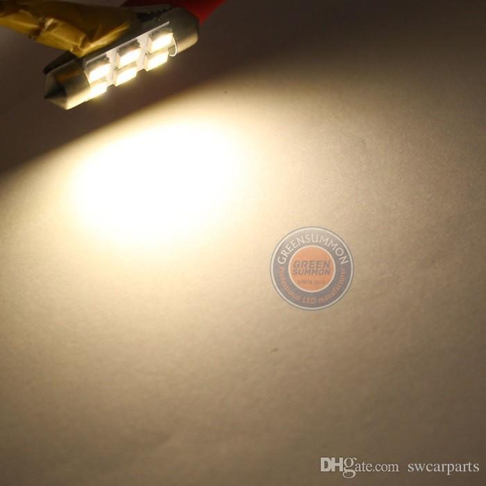 36mm 6 5050 SMD LED lumière feston porte intérieure carte dôme LED ampoule
