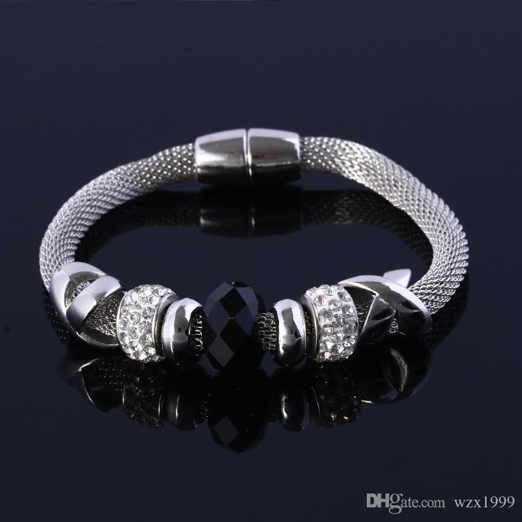 Heiße Weinlesearmbänder arbeiten Entwurfs-Frauen handgemachte Glaskorne Armbänder für Frauen Charme-Armbänder Armreifen Jewlery pulseras um