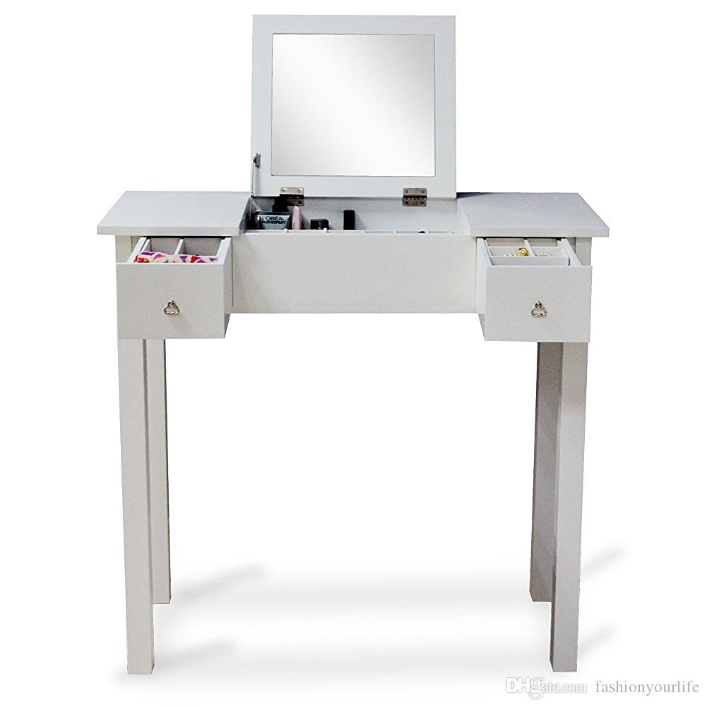2019 White Wooden Vanity Table Desk Makeup Dressing Table