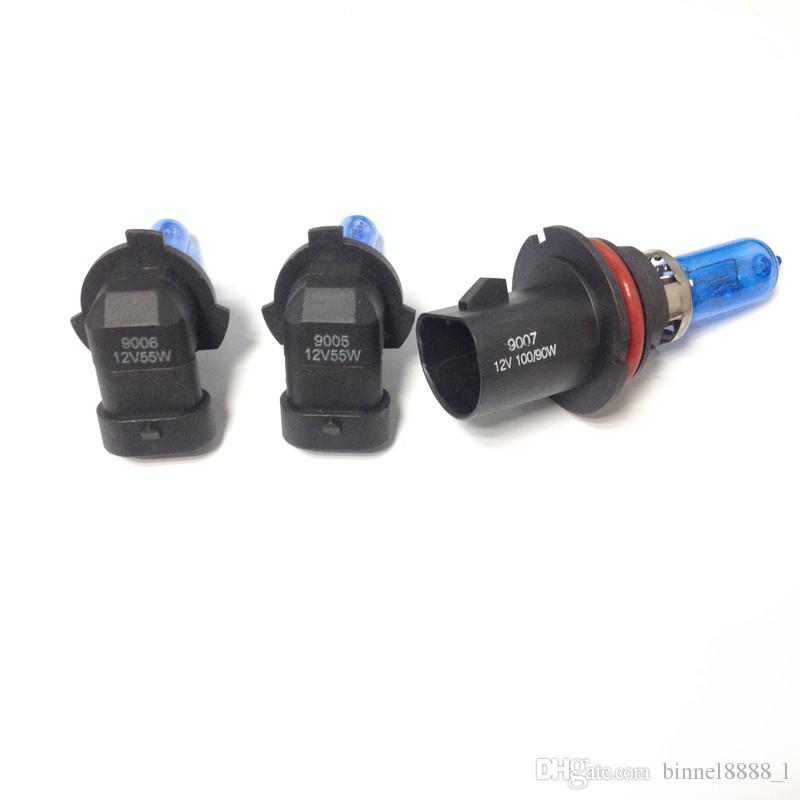 12V 100/90W 9007 55W 9005/9006 Ultra-white Xenon HID Halogen Auto Car Headlights Bulbs Lamp Auto Parts Car Light Source Accessories