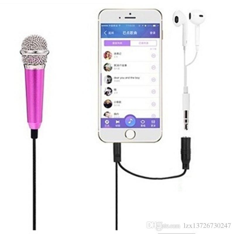 Мини-джек 3,5 мм студии Lavalier профессиональный микрофон Ручной микрофон для мобильного телефона Компьютер для iPhone Samsung караоке