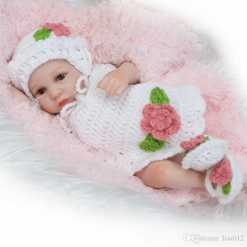 10inch Lifelike Newborn Baby Dolls Realistic Full Vinyl Bonecas Bebe Reborn  De Silicone Toys Babies Shower Gift For Women Fairy Dolls Boy Doll From  Lisa012 8326cf8ba7