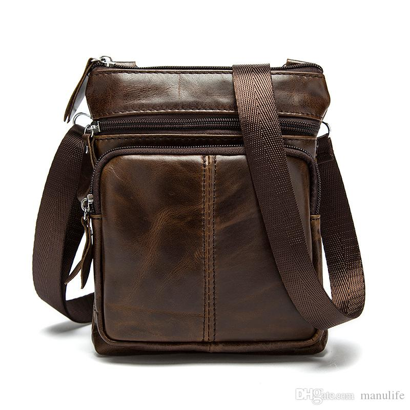 161a77efcb Hot Sell Korean Casual Men Mini Cow Genuine Leather Shoulder Travel Flap Bag  High Quality Drop Shipping Overnight Bags Bags For Women From Manulife