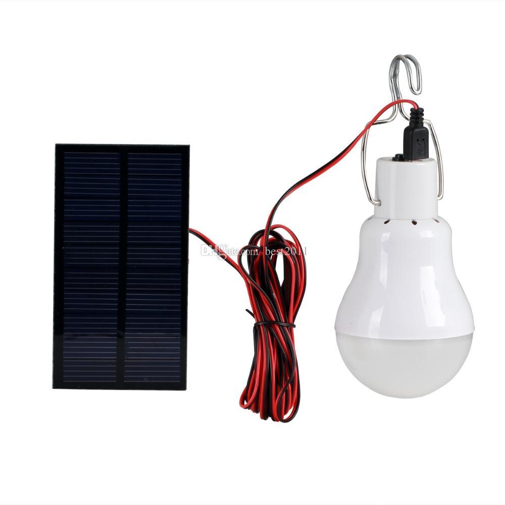 Sistema de iluminación led de energía solar para exteriores / interiores Lámpara de luz LED Bombilla Panel solar Viajes de campo de baja potencia utilizados Iluminación de jardín 15W