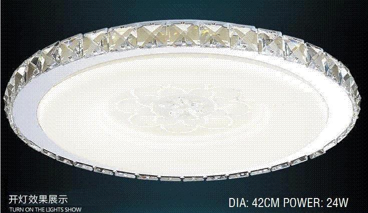 Plafoniere Da Salotto : Acquista ! plafoniera moderna in cristallo nuovo arrivo con led 24w