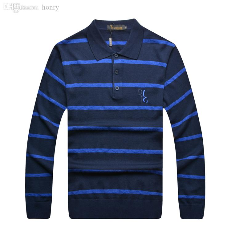 8b61b2e83f3341 Wholesale- Italian Couture Sweater Men s Clothing Handsome Turn ...
