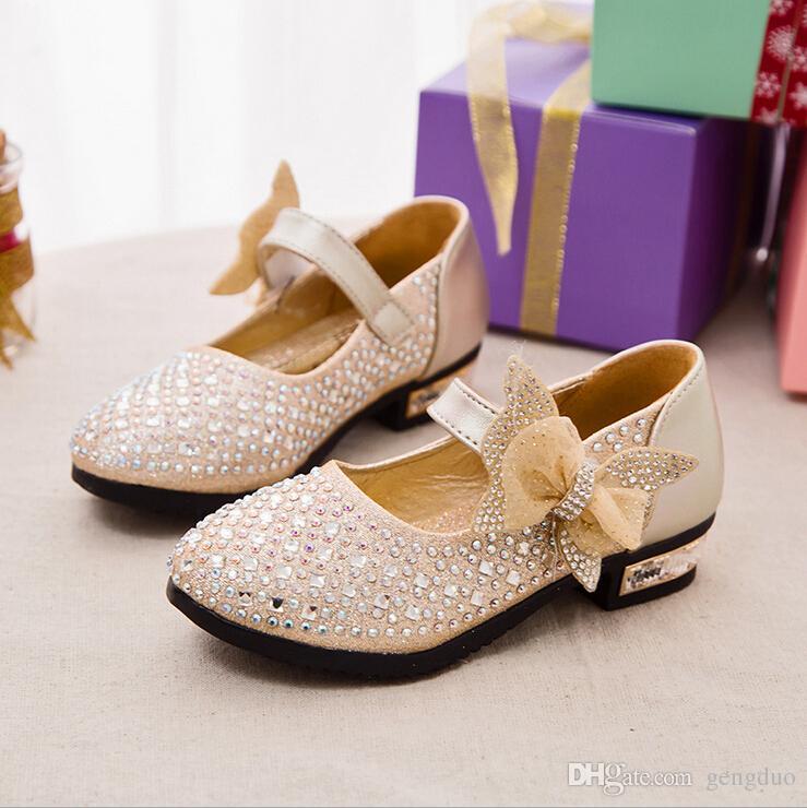 90128df7514b Hot Sale Kids Leather Shoes Glitter Rhinestone Girls Ballerina Shoes Baby Girls  Princess Wedding Shoes Glitter Children Shoe Girls Flat Leather Baby  Clothes ...