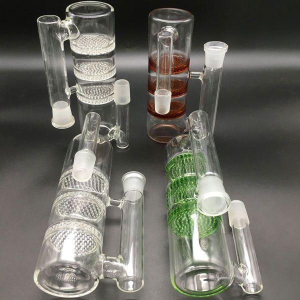 18mm 14mm verre miel peigne cendres catcher PERC bol ashcatcher bol en verre de fumer vert brun clair pour plates-formes pétrolières en verre bongs ashcathcer
