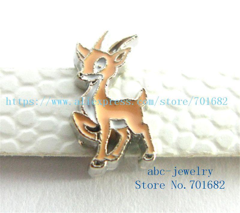 8mm noël mignonne breloques de cerf en gros prix interne Dia.8mm fit 8mm bracelet ceinture trousseau collier de chien bracelets SL419