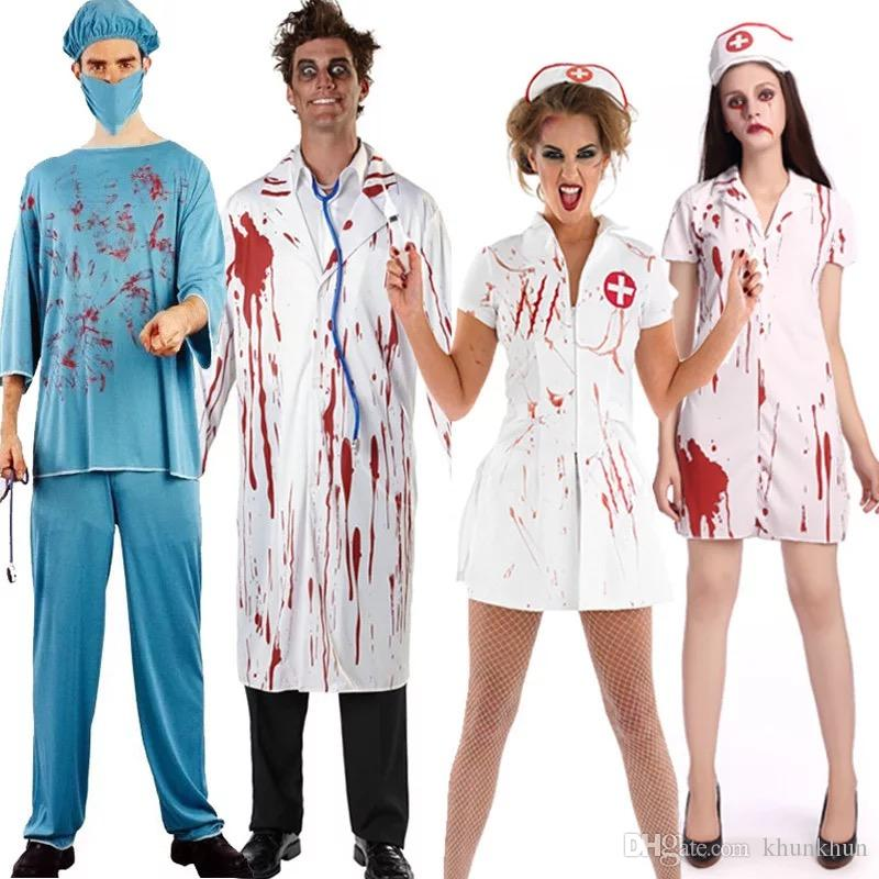 53af40792e646 Adult Halloween Party Cosplay Horror Clothes Bloody Scary Girl Nurse  Costume Dress And Doctor Clothes Pirate Costumes Clown Costumes From  Khunkhun .