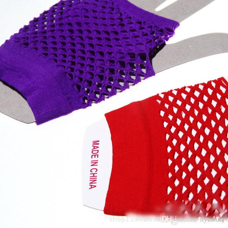 Nova Alta Qualidade Fishnet Luvas Moda Punk Meia-Dedo Fishnet Luvas Outfits Nightclub Fishnet Luvas