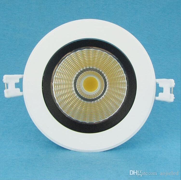 Prezzo all'ingrossop Super 15W Dimmable COB LED Downlight Light Bianco freddo Warm White incasso COB LED Down Dimensioni lampada: 109 * 90mm AC85-265V
