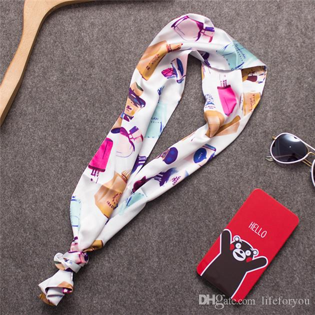 Mini long Scarves scarf Boa Top women girls Hand bag hair neck Fashion decorations Wrap Scarf Shawl Scarves neckerchief Bandanna