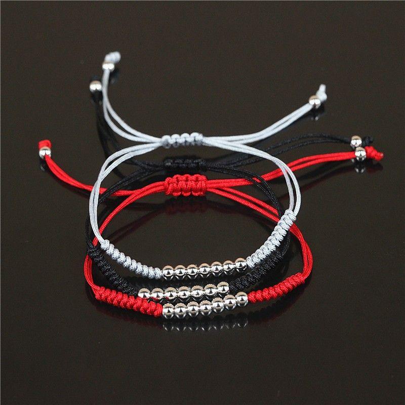 BC 4mm Gold Micro Pave Black CZ Stoppers Beads New Anil Arjandas Macrame Bracelets,Briading Macrame Bracelet For Men Jewelry BC-233