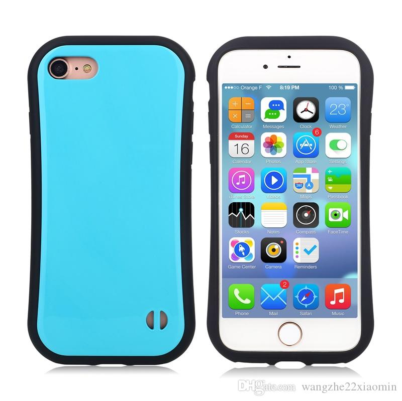 Anti-slip Shockproof Iface TPU Case Cover Korea Style Candy Phone Case for iphone 6 6plus for iphone 7 7plus Back Cover Case